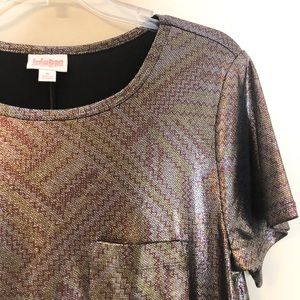 Lularoe Carly size s - holographic foil